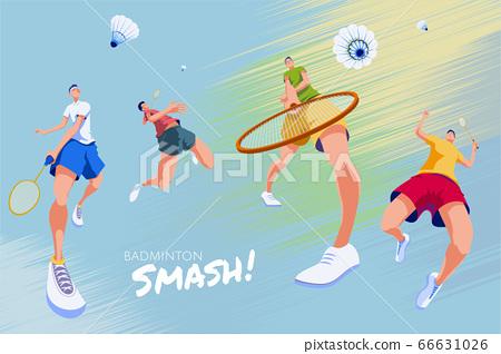 Badminton promotion poster 66631026
