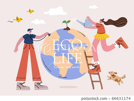 Eco friendly lifestyle 66631174