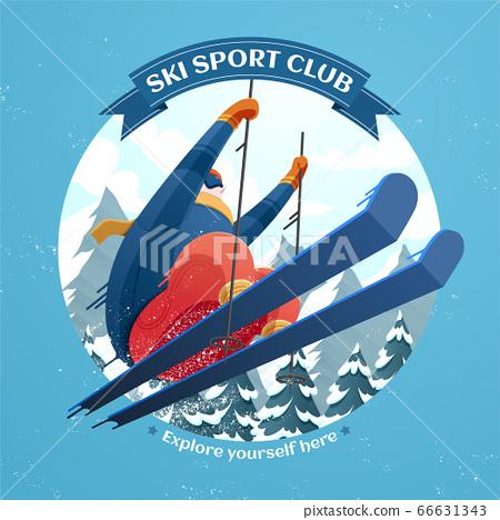 Ski sport club illustration 66631343
