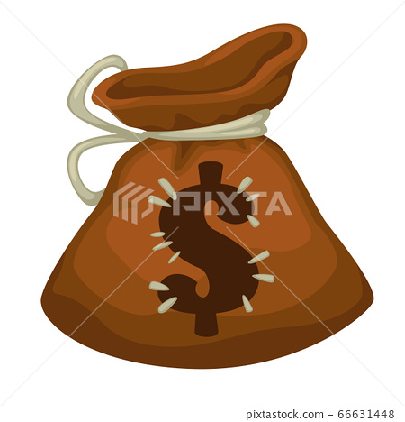 Moneybag with dollar sign, payment or savings icon 66631448