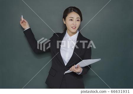 Businesswoman concept, Asian female portrait in a studio 145 66631931