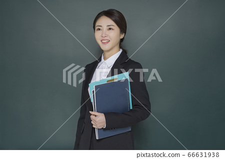 Businesswoman concept, Asian female portrait in a studio 107 66631938