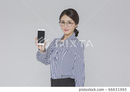 Businesswoman concept, Asian female portrait in a studio 061 66631993