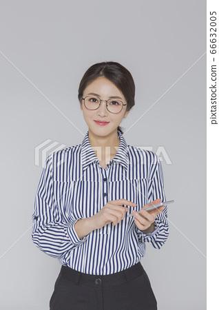 Businesswoman concept, Asian female portrait in a studio 051 66632005