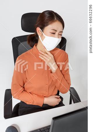 Businesswoman concept, Asian female portrait in a studio 057 66632296