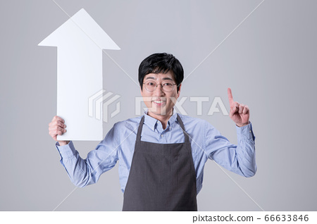 A studio portrait of Asian man making a confident smile 343 66633846