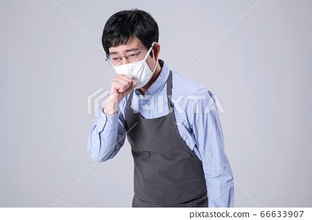 A studio portrait of Asian man making a confident smile 295 66633907