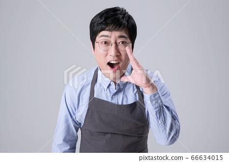 A studio portrait of Asian man making a confident smile 291 66634015