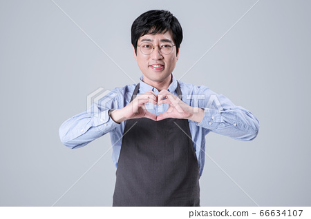 A studio portrait of Asian man making a confident smile 110 66634107