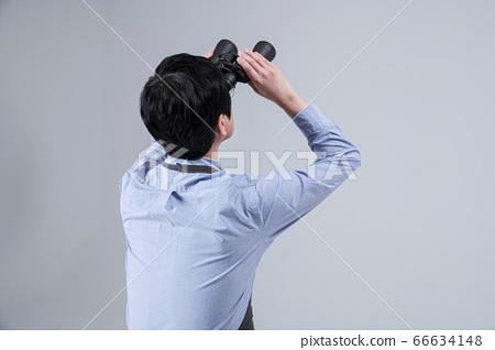 A studio portrait of Asian man making a confident smile 013 66634148