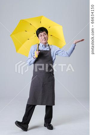 A studio portrait of Asian man making a confident smile 008 66634150