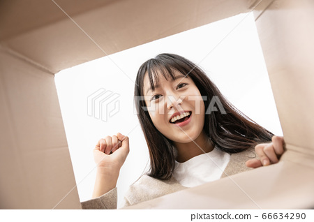 Young asian woman's Daily life concept. Enjoying daily routine 624 66634290