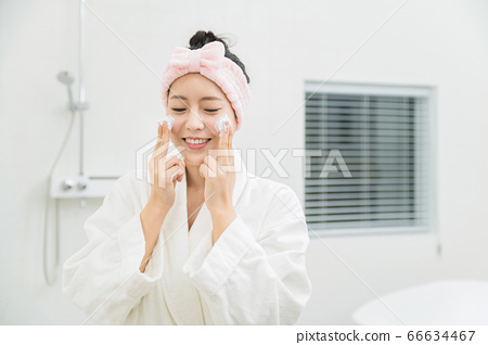 Young asian woman's Daily life concept. Enjoying daily routine 379 66634467