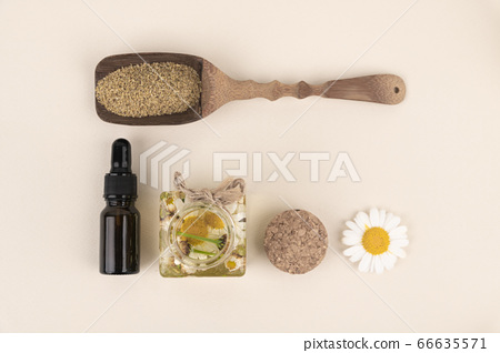 Herbal cosmetic concept, inner or skin beauty care 063 66635571