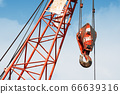 Construction crane With a blue sky background 66639316