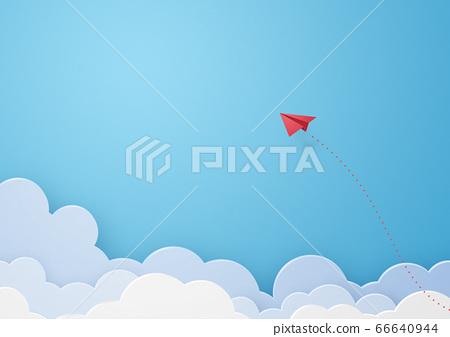 구름 외로운 비행 종이 비행기 [지공예] 66640944