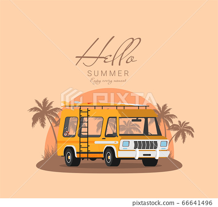 Summer holidays vector illustration,flat design 66641496