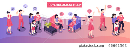 Psychological Help Isometric Composition 66661568