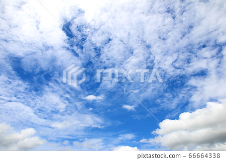 blue sky and white clouds background. 66664338