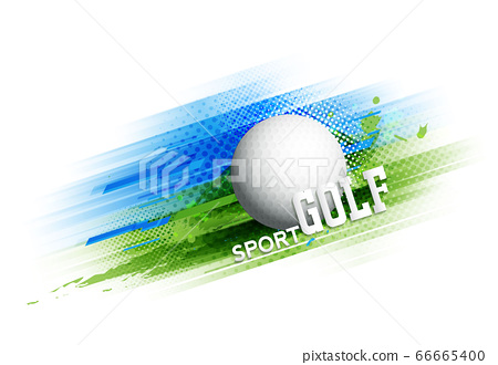 Golf competition tournament template poster or banner vector design. 66665400