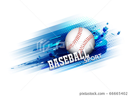 Baseball competition tournament template poster or banner vector design. 66665402