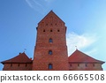 Trakai Castle and blue sky 66665508