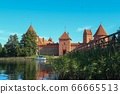 Trakai castle and lake 66665513
