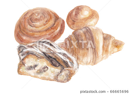 Bread painted in watercolor 66665696