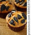 黑餅乾鬆餅(垂直位置特寫) 66665979