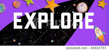 Explore theme with a space background 66683791