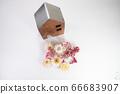 귀여운 말린 꽃과 집 66683907