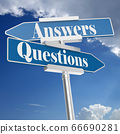 Questions and answers signs 66690281