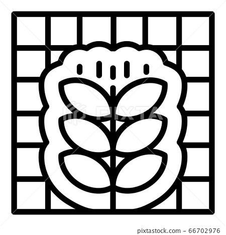 Smart control plant icon, outline style 66702976