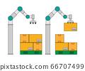 具有自動編程功能的協作式機器人可以堆放行李 66707499