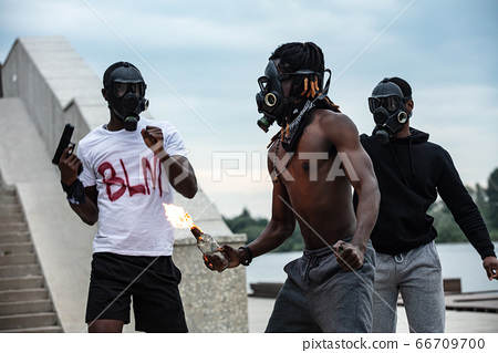 cruel black people go on demonstrations and rowdy 66709700
