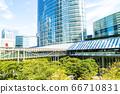 許多綠色辦公室街道風景 66710831