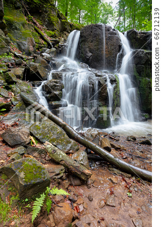 rocks in waterfall stream. beautiful nature 66712139