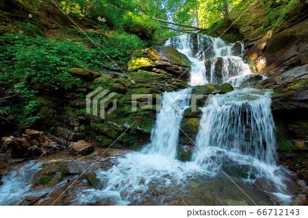 Carpathian waterfall Shypot in the morning. 66712143