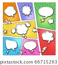 Comic book bubbles layout 66715263
