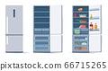 Flat refrigerators set 66715265