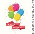 Retro Happy Birthday poster 66715269