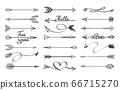 Curved arrows sketch 66715270