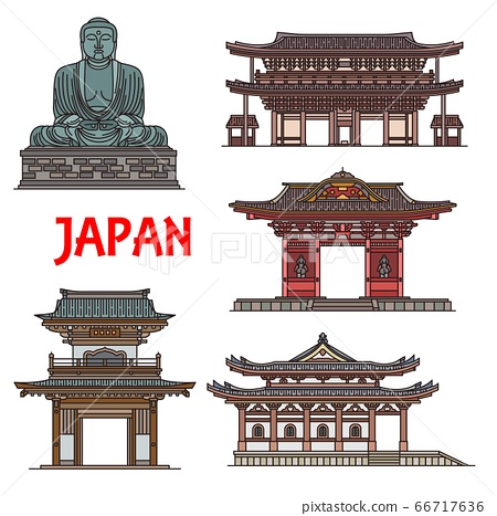 Japanese temples, pagodas Kamakura architecture 66717636