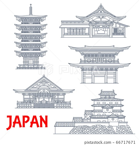 Japan temples, Japanese pagoda buildings Kamakura 66717671