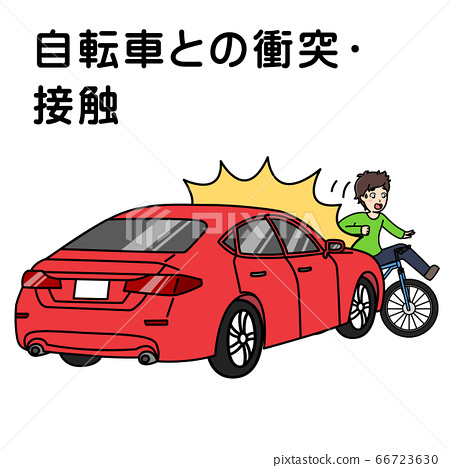 Vehicle accident (collision/contact with bicycle) 66723630