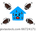 蟑螂人物在家裡聚會 66724171