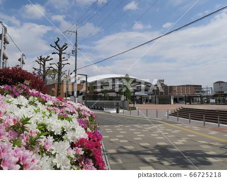 到達春天的阪神電車甲子園站 66725218
