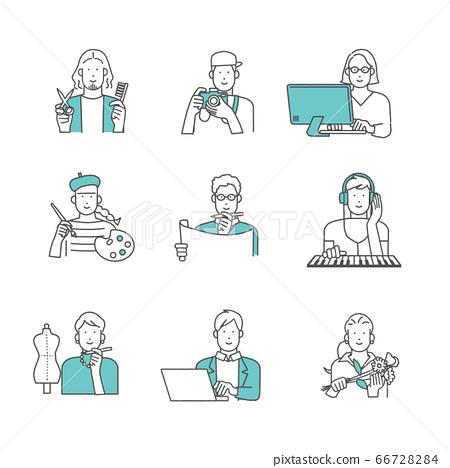 직업 크리에이터의 사람들 일러스트 소재 66728284