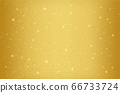 Twinkling stars golden background with sparkling elements. Gold galaxy atmosphere illustration 66733724