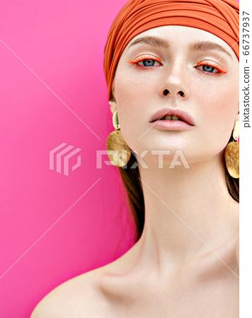 Fashion beauty portrait. 66737937